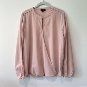 The Limited Long Sleeve Pink Blouse